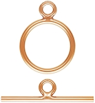 10mm Rose Gold Filled Toggle Clasp Set - 14kgf
